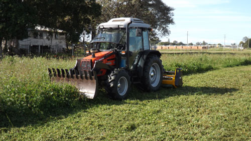 Tractor-&-Flail-Mower