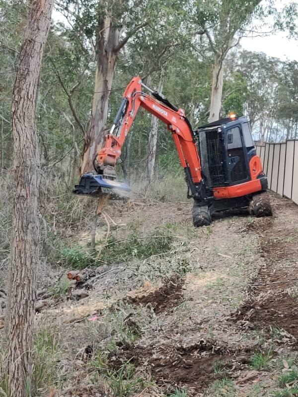 forestry mulching excavator